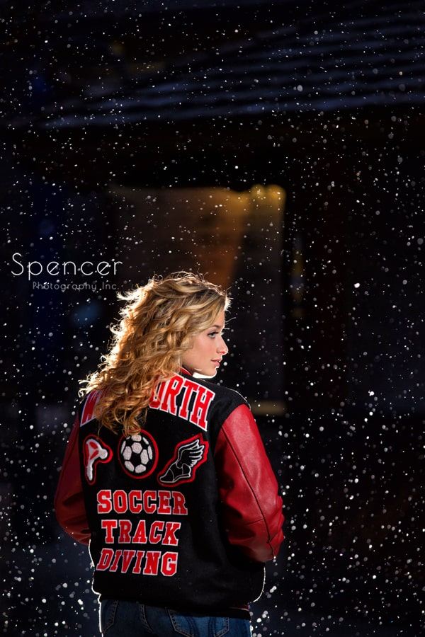 wadsworth high school senior in letterman jacket