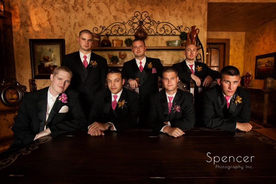 picture of groomsmen on wedding day at Gervasi Vineyard