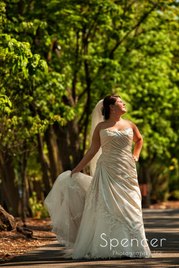 picture of bride on her wedding day at Gervasi