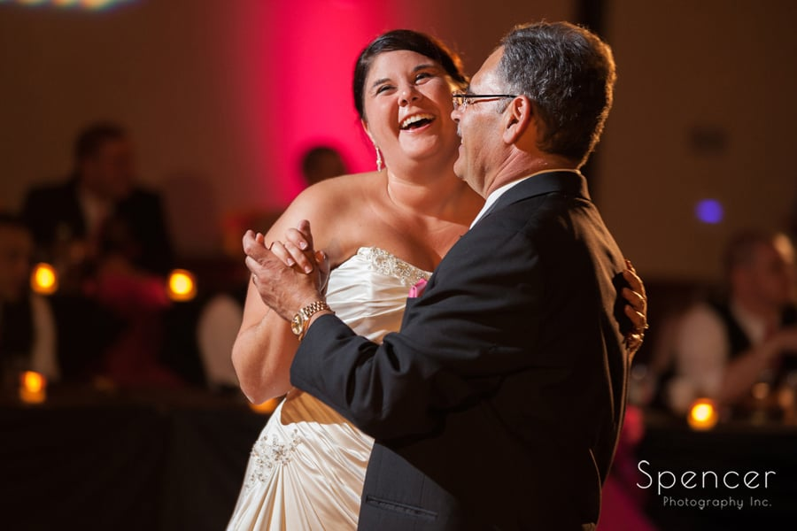 bride dancing with her dad at kent conference center