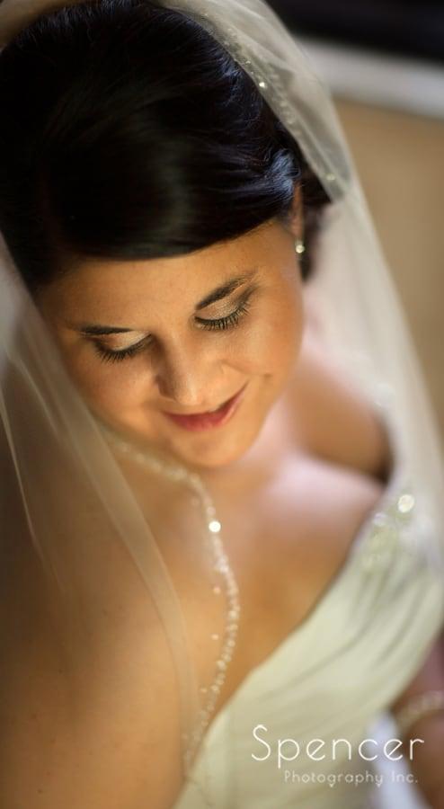 wedding day portrait of bride at Gervasi Vineyard