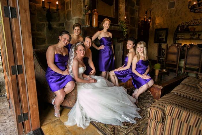 picture of bridesmaids at Gervasi Vineyard