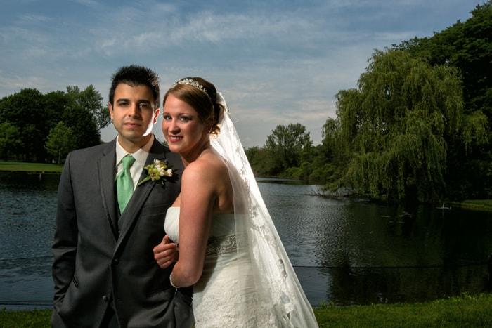 wedding day picture at Gervasi Vineyard
