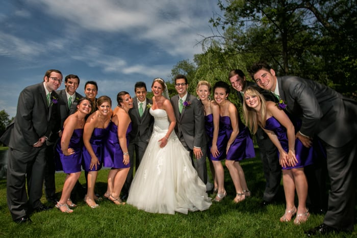 wedding party picture at Gervasi