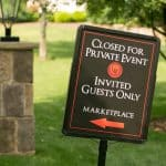 wedding day sign at Gervasi