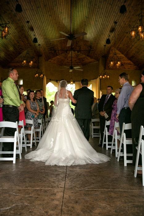 wedding ceremony at Gervasi Vineyard