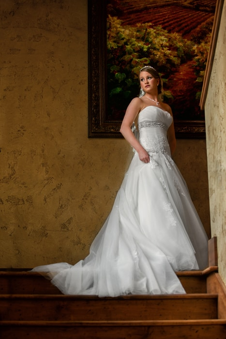 picture of bride in villa at Gervasi