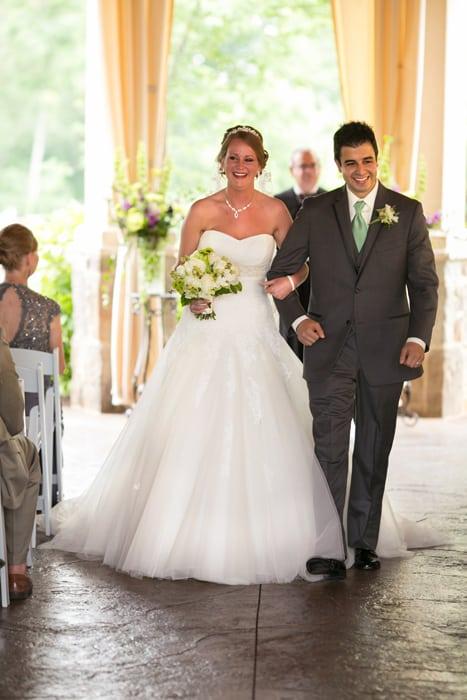 recessional at wedding ceremony Gervasi Vineyard