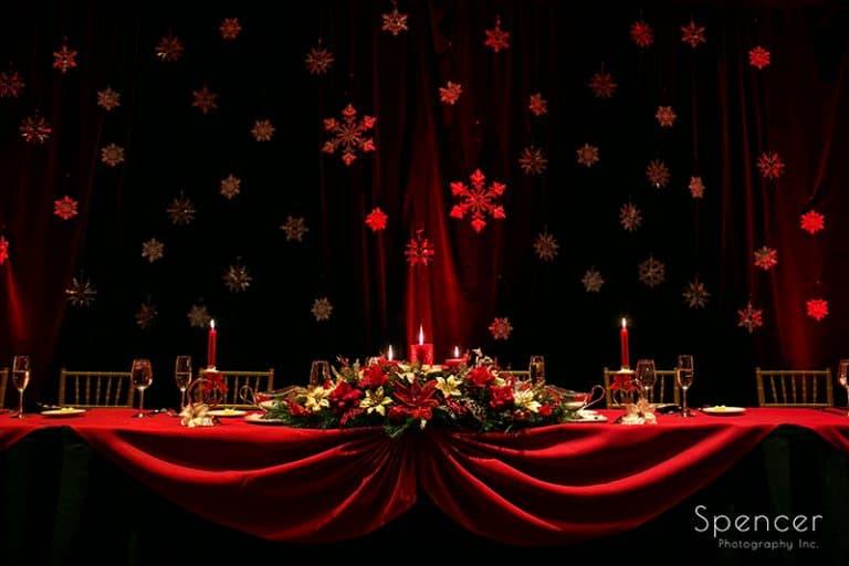 Christmas Wedding Reception at The Bertram Inn // Cleveland Wedding Photographers