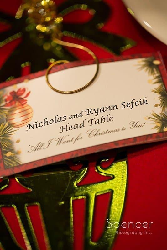 wedding reception detail at The Bertram Aurora Ohio