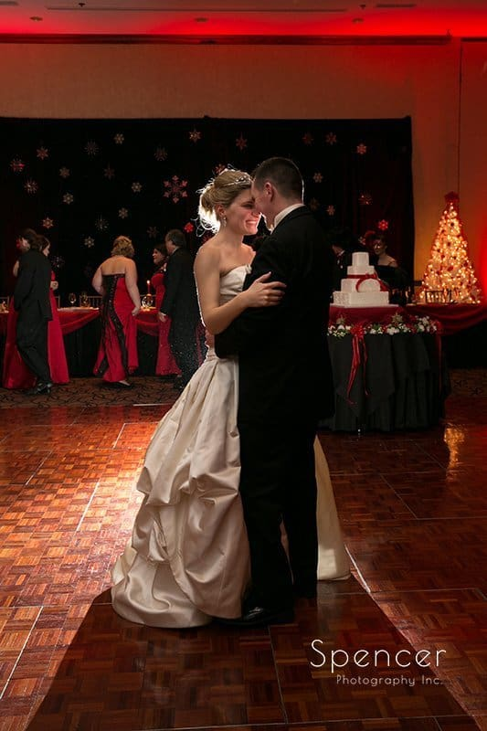 first dance at wedding reception at The Bertram
