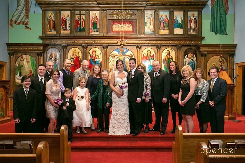 family picture at Annunciation Greek Orthodox Church Akron