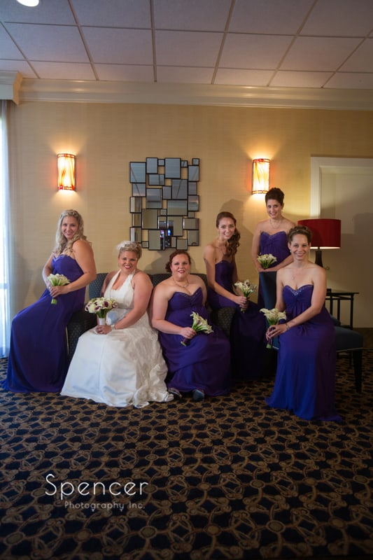 picture of bridesmaids in akron hotel