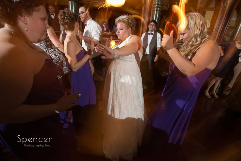 bride dancing at her wedding reception at tangier akron