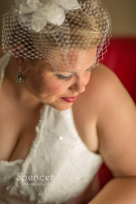 wedding portrait of a bride in akron