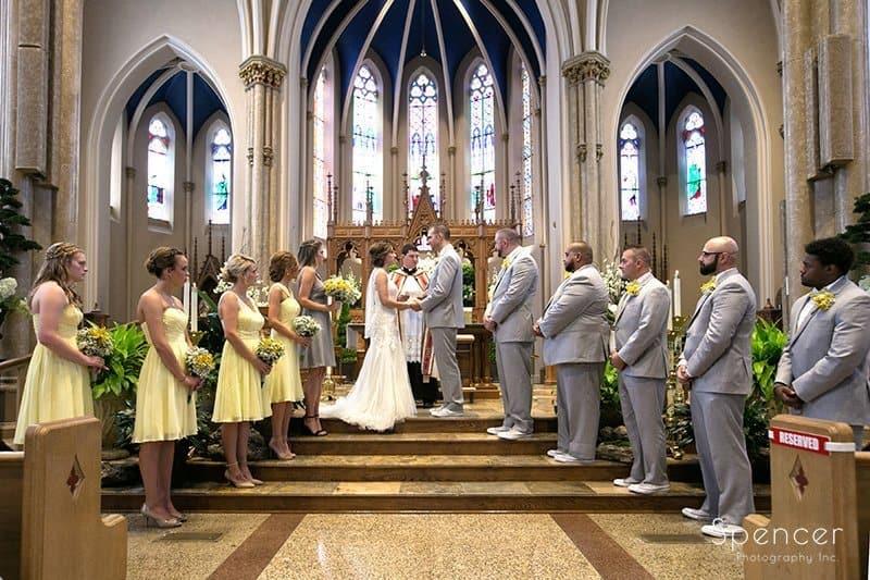 wedding ceremony at St. Mary's Catholic Church
