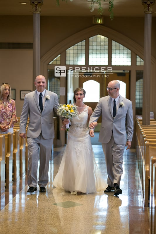 wedding ceremony at st marys