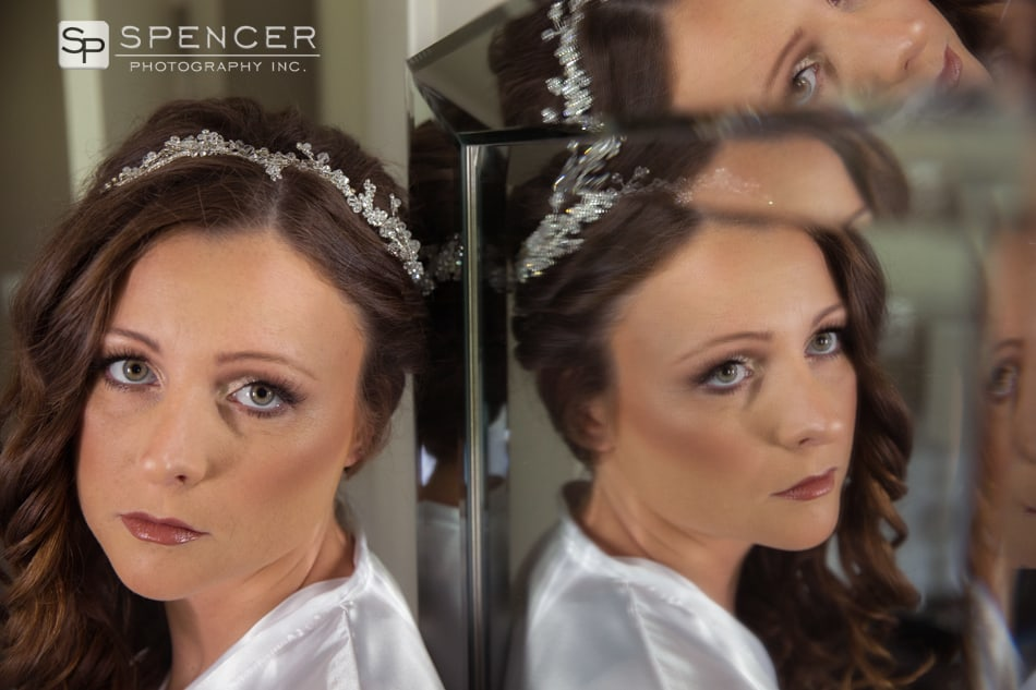 bride reflection picture