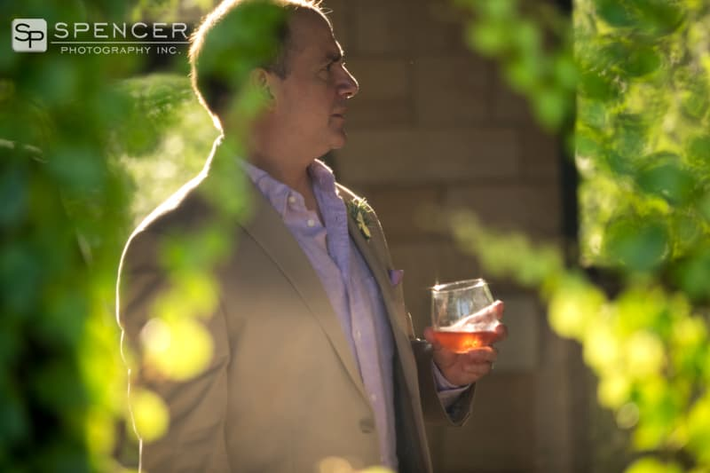 best man having cocktail at shaker heights reception