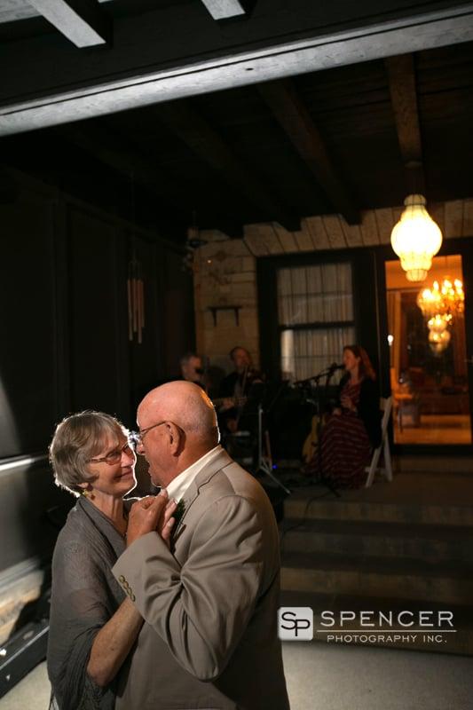 parents of bride dancing at reception