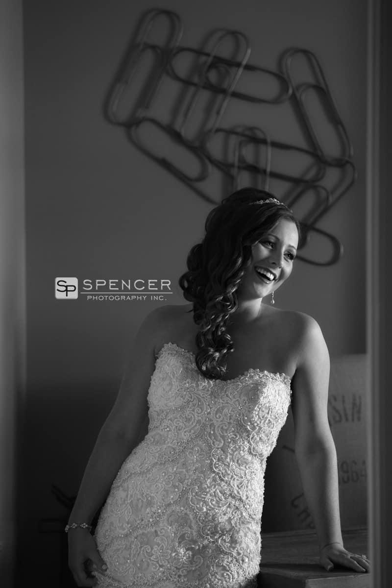 bride picture on her wedding day in brecksville
