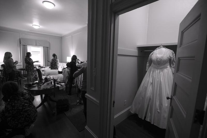 wedding dress at union club of cleveland