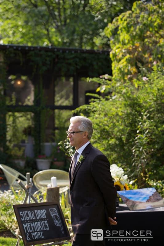 groom entering his wedding ceremony