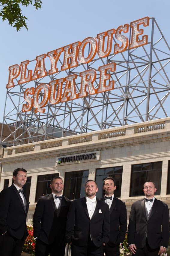 groomsmen in playhouse square
