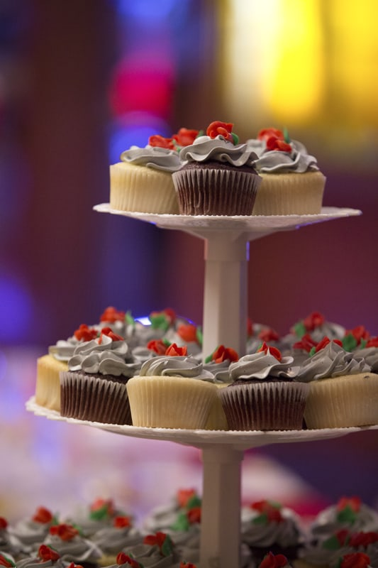cupcakes at guys party center reception