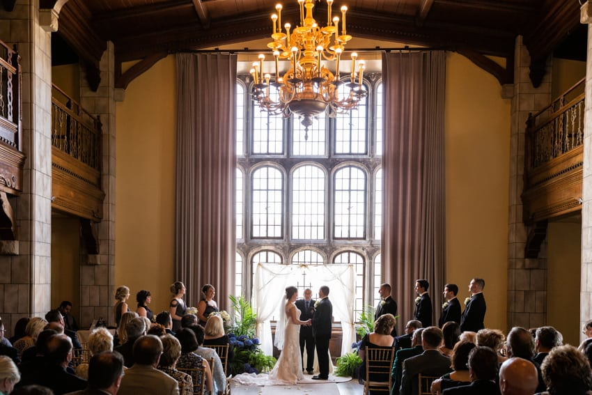 wedding ceremony at tudor arms