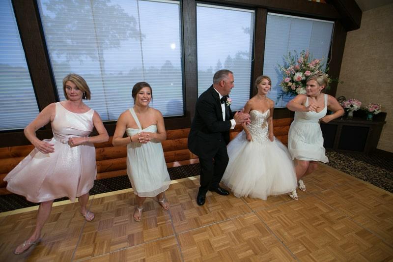 bride family dances at firestone reception