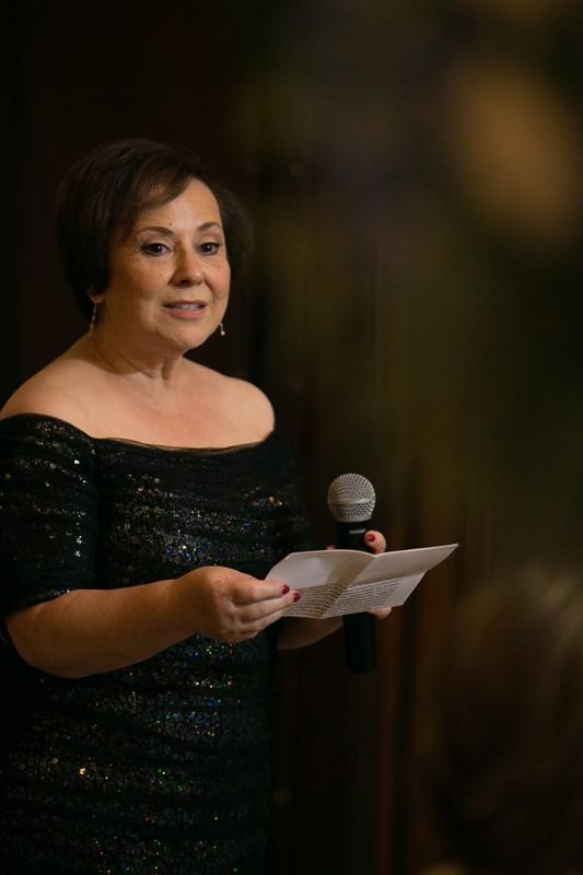 mom giving reception speech