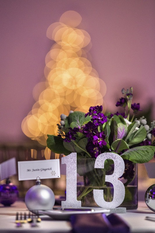 centerpiece at wedding reception at ballroom at park lane