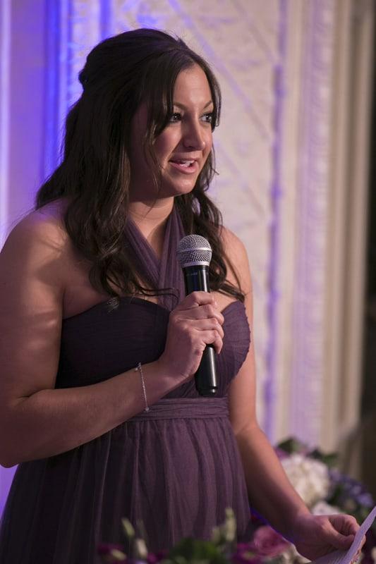 maid of honor speech at wedding reception at park lane