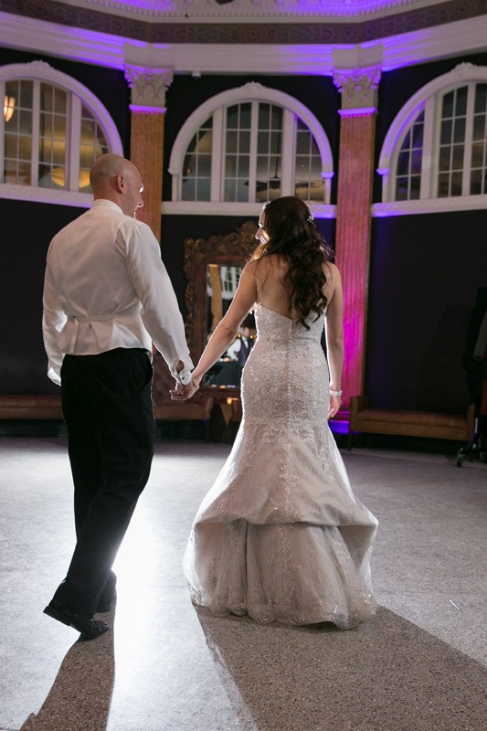 first dance at wedding reception at park lane