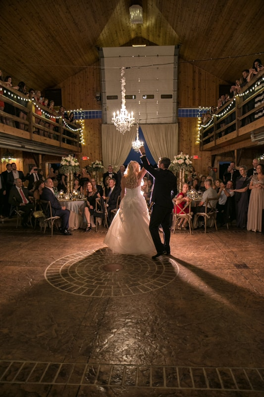 first dance at wedding reception in copley
