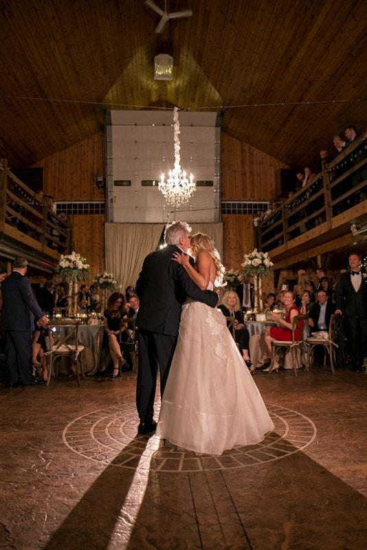 gorgeous wedding reception in barn