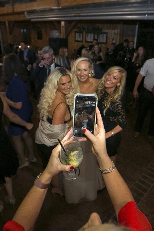 selfie at wedding reception