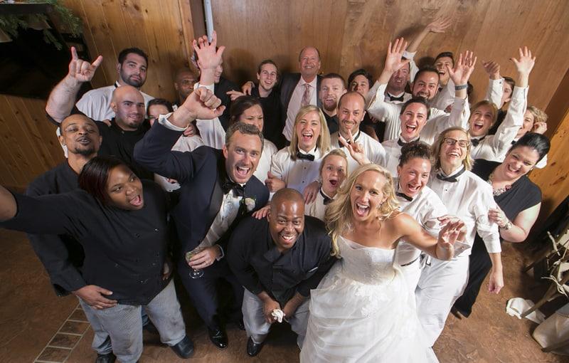 ken stewert's wedding reception staff