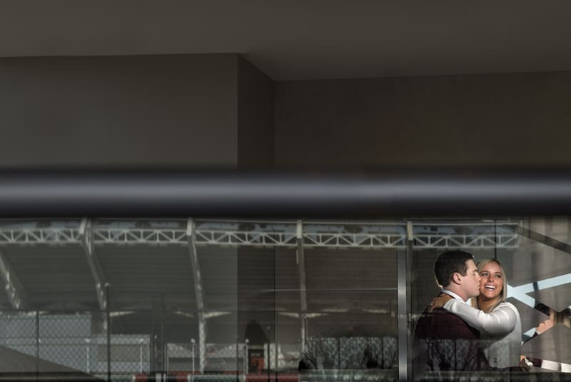 engagement picture at hilton cleveland downtown