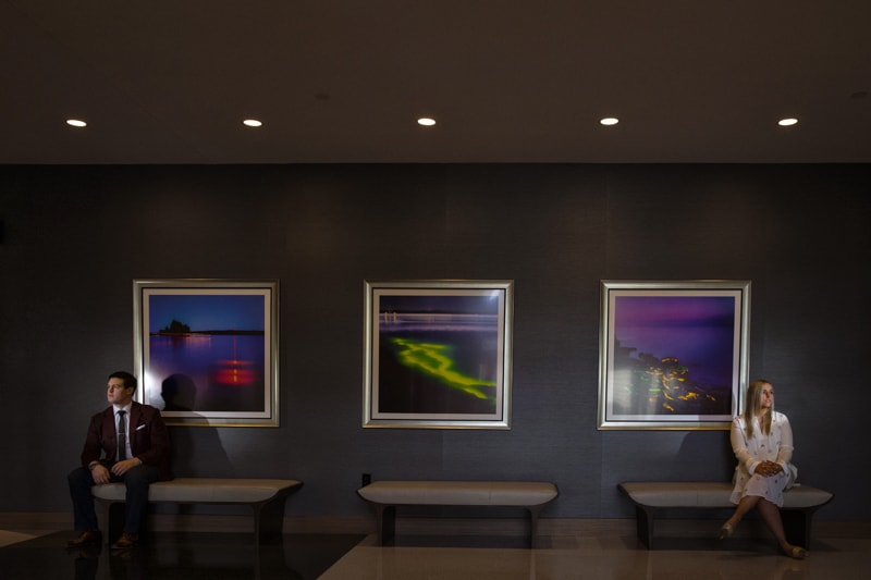 artwork at photo session at hilton cleveland