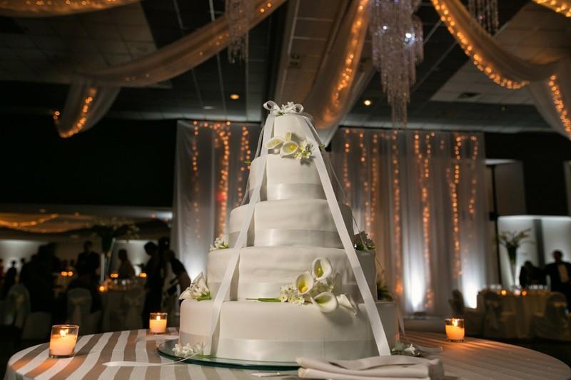 wedding cake and landerhaven wedding reception