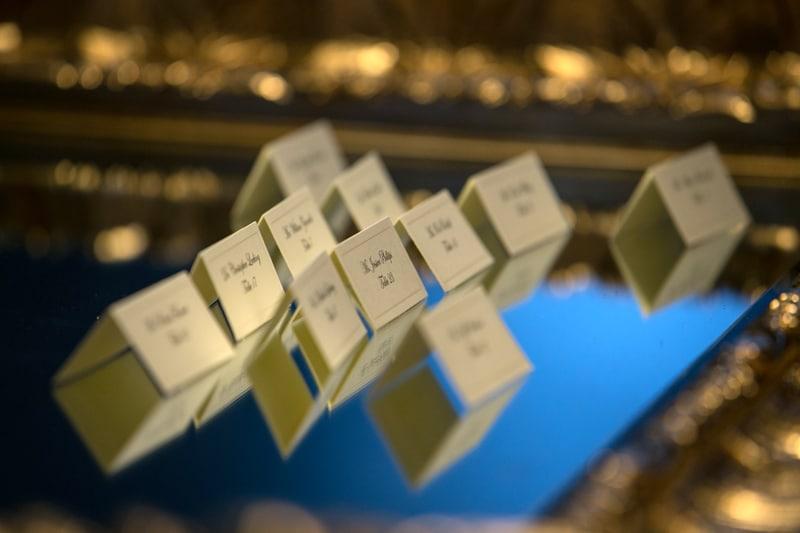 table cards at landerhaven wedding reception