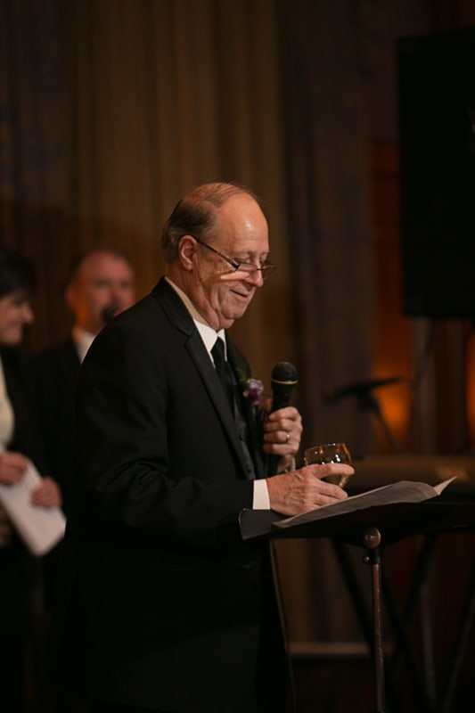 dad giving speech