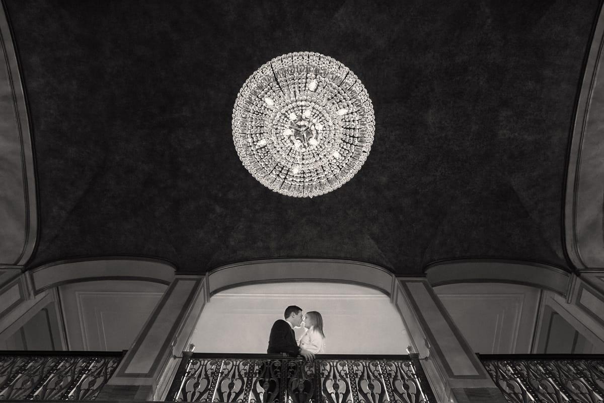 Engagement picture at the Cleveland Renaissance