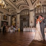 Another angle of Brad and Rebecca's wedding dance at Tudor Arms