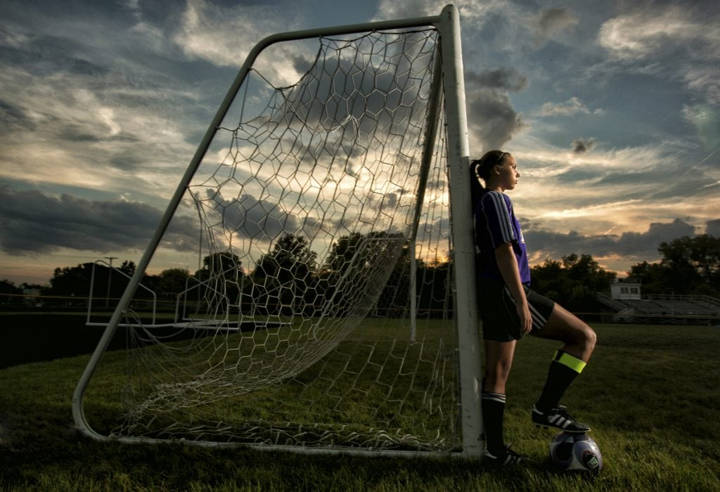 high school senior soccer picture