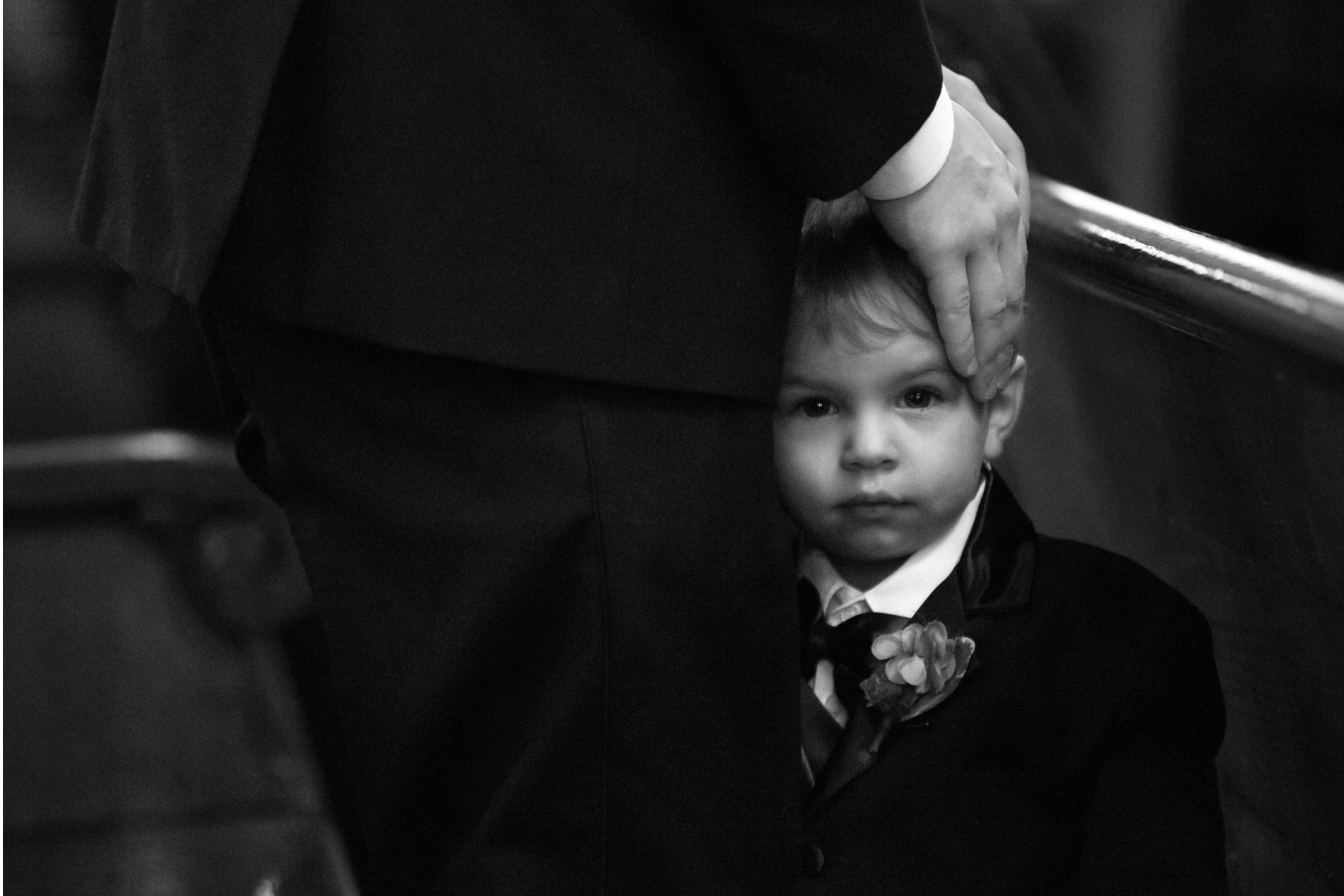 Ring bearer gets a hand