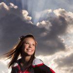 senior portrait cheerleader