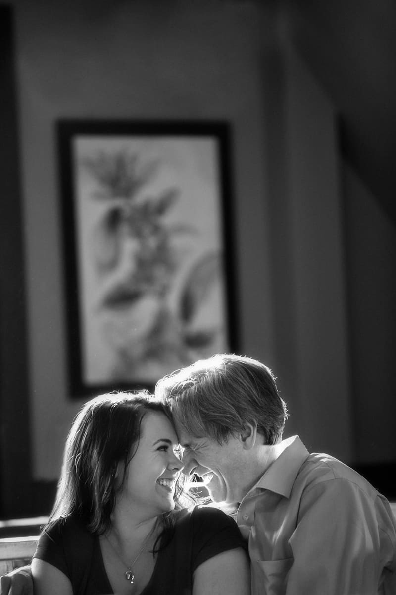 Engagement pictures in Kent coffee shop